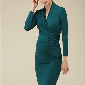 ISABELLA OLIVER Green Balcombe Maternity Dress